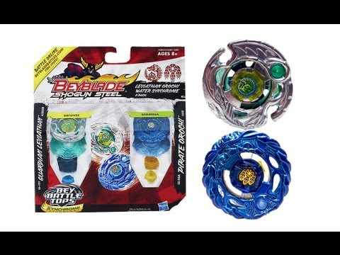 (CLOSED) Beyblade Shogun Steel Leviathan Orochi Water Synchrome 2 Pack Review Unboxing Giveaway