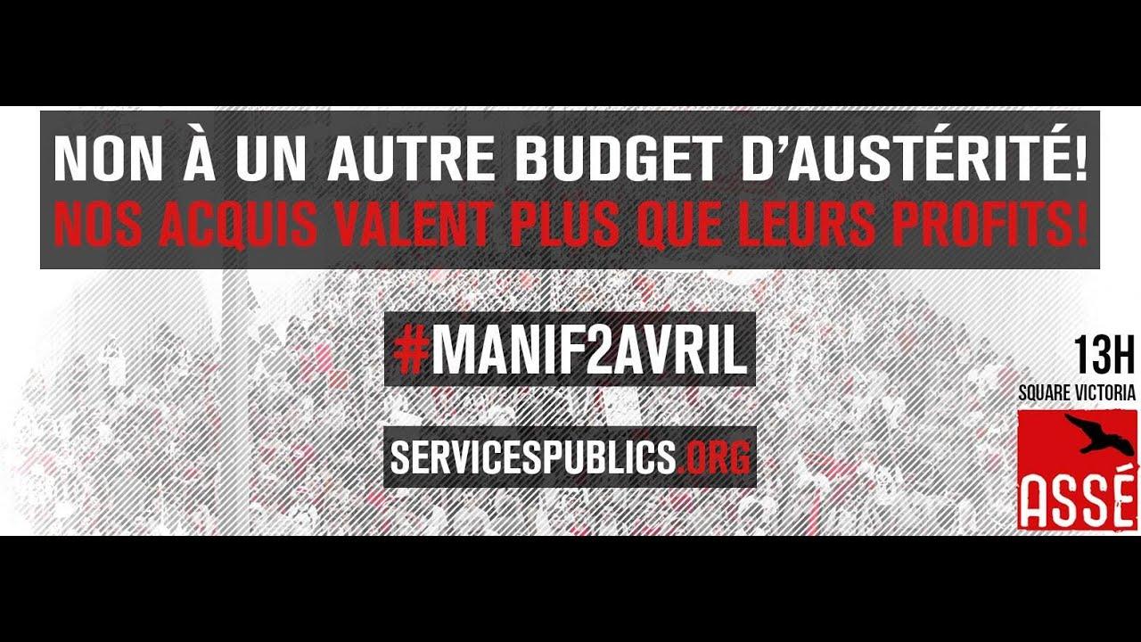 Manifestation nationale - manif2avril - Nos acquis valent plus que leurs profits
