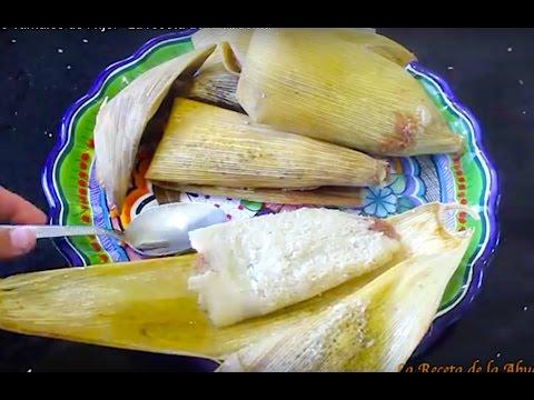 Ricos Tamales de Frijol  Recetas navideñas