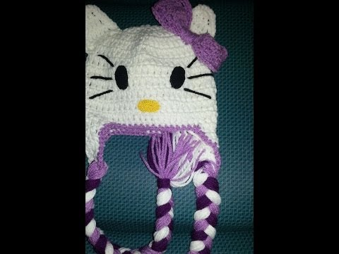 Gorro Hello Kitty a Crochet