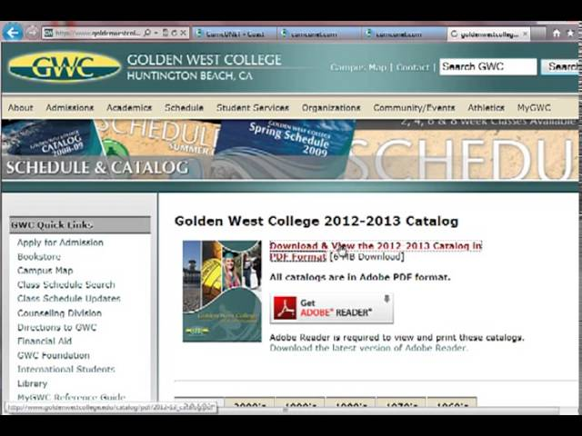 GWC Student Learning Outcomes - Finding SLO Information