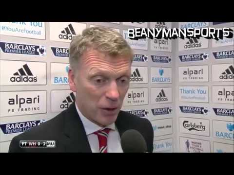 West Ham 0-2 Manchester United - David Moyes Post Match Interview - Wayne Rooney Wonder Goal