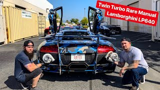 REBUILDING MY RARE MANUAL LAMBORGHINI MURCI WITH TWIN TURBOS? *2600 HP*