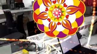AR Onam Rangoli - VEAR.IO Google Cardboard Demo