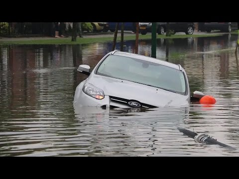 De wateroverlast in Cuijk was enorm door het noodweer