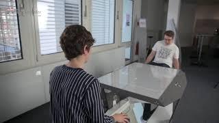 MS Wissenschaft: Digitaler Pong-Tisch fördert Gesundheit und Kreativität