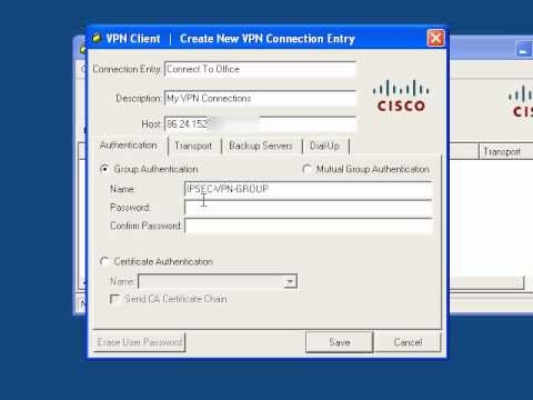 Working with the Cisco VPN Client. (IPSEC)