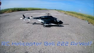 RC Helicopter Bell 222 AirWolf (550 size)  CRASH