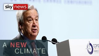 A New Climate: UN chief warns of 'catastophic' climate change impact