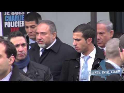 Benjamin Netanyahou et Avigdor Lieberman se rendent au hypercacher de Vincennes