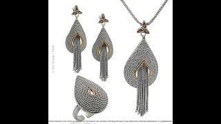 Midyat Mardin Gümüş Telkari Bayan Gümüş Üçlü Takı Modelleri