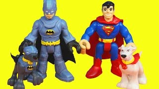 Imaginext Batman Ace Dog and Superman Kryptonite Krypto DC vs. Ninjas Batdog Batdog Superdog