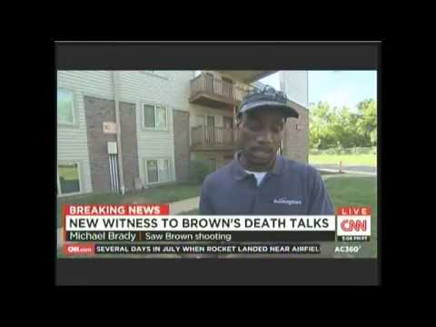 Mike Brown shooting witness Michael Brady interviewed by Anderson Cooper Aug 20 2014
