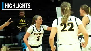 Highlights: North Carolina Central at Iowa | B1G Women's Basketball | Dec. 14, 2019
