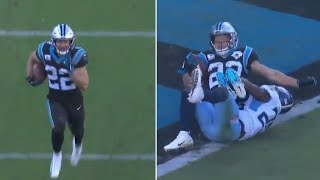 Christian McCaffrey RUNS 58 Yard TD, GETS MVP CHANTS By Panthers Fans!!!