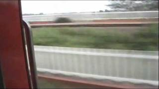 High speed Rajdhani Express on Bridge