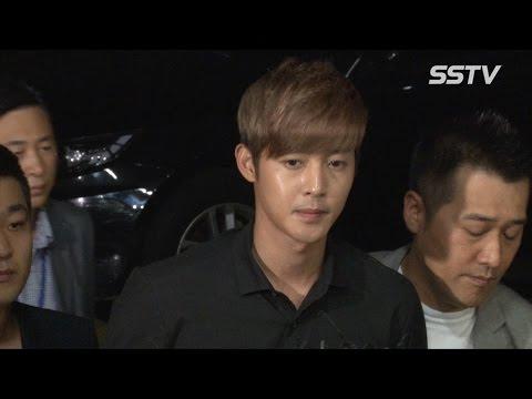"""[sstv] 김현중(kim Hyun Joong) 경찰 출두, 착잡한 표정으로 """"조사 성실히 임하겠다"""" video"""