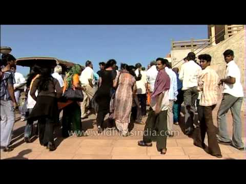 Tourists flock at the Kanyakumari temple