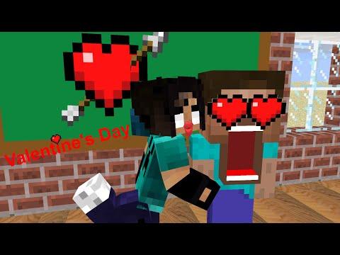Monster School - Valentine's Day - Minecraft Animation