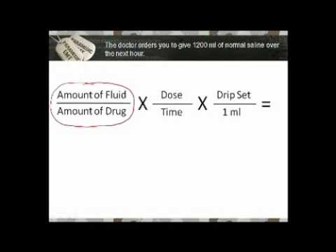 Medical Math Paramedic Drug Calculation