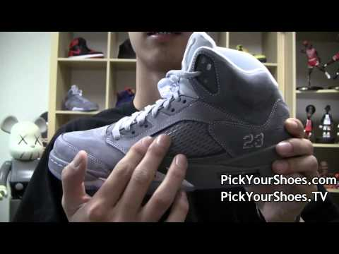 Air Jordan Retro 5 Wolf Grey