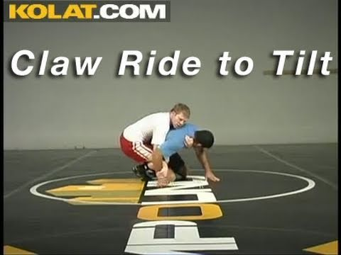 Claw Ride to 1 on 1 Tilt KOLAT.COM Wrestling Techniques Moves Instruction Image 1