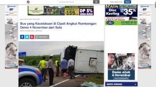 Bus terlibat kecelakaan di Tol Cipali angkut rombongan demo