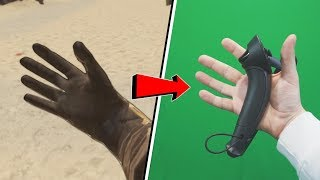 Fighting in VR with FINGER TRACKING (Valve Index Knuckles)