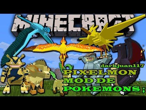 MINECRAFT Como instalar pixelmon versión 1.7.2 y 1.6.4 / pokemon