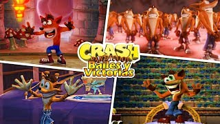 Victories and Dances in Crash Bandicoot Games
