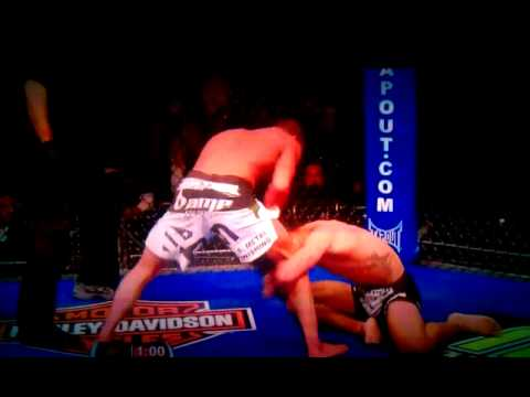 Ben Henderson vs. Anthony Pettis. Head kick off the cage