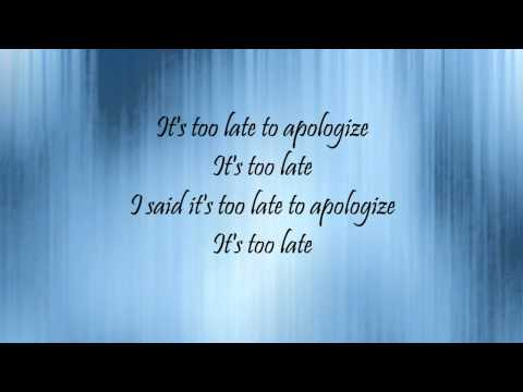 Too Late To Apologize: A Declaration Lyrics video