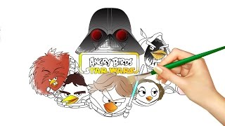Angry Birds Star Wars Coloring Book