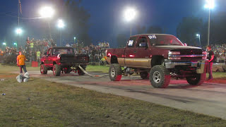 Big Chevy Vs Little Ford Tug Of War At Wapak Tug Fest