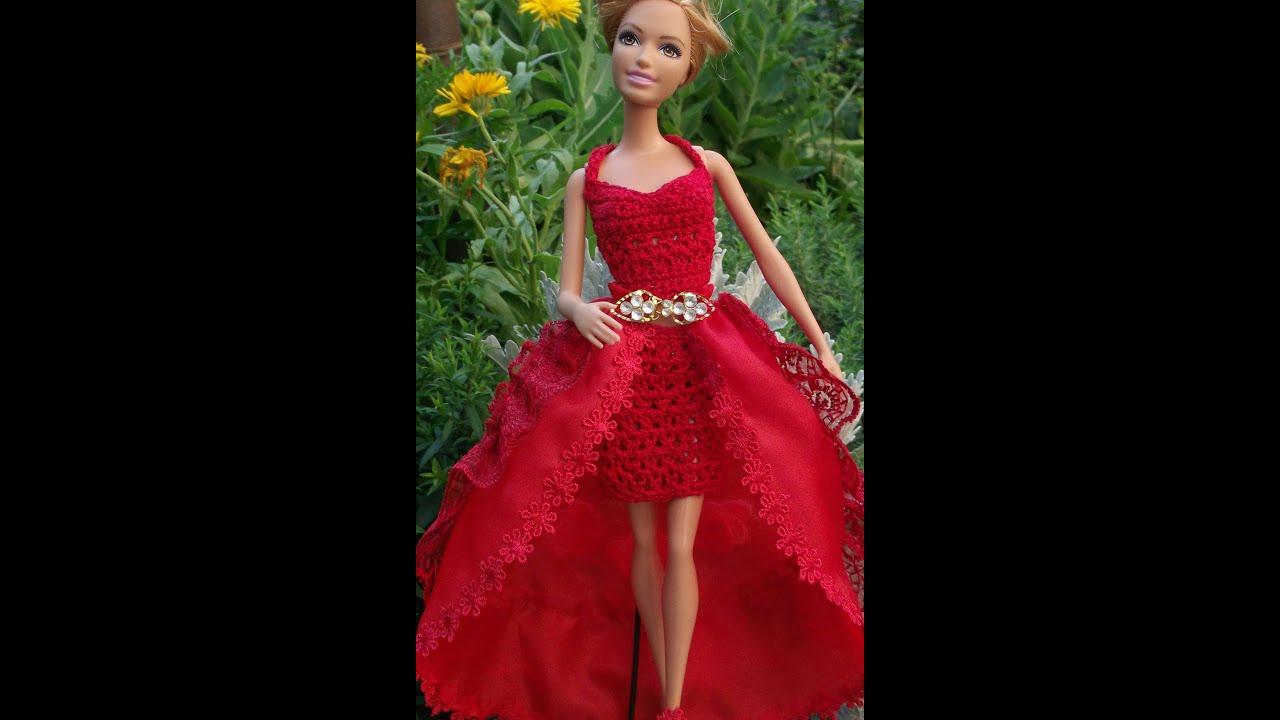 Пять нарядных платьев для Барби, шьём своими руками