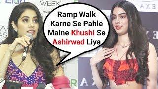 Jhanvi Kapoor Takes Blessing From Khushi Kapoor At Lakme Fashion Week 2018