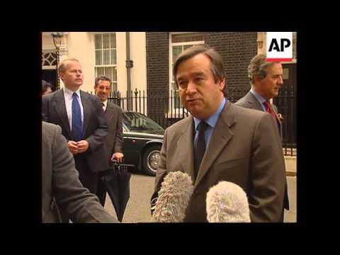UK: PORTUGUESE PREMIER ANTONIO GUTERRES MEETS TONY BLAIR