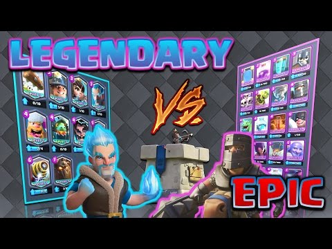 Clash Royale All Legendary V S All Epic Bring Out