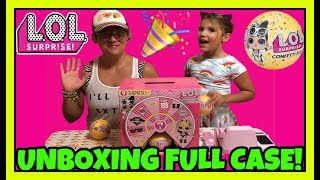 LOL Surprise Dolls Unboxing FULL CASE Confetti Pop Series 3 Wave 2 + GIVEAWAY!