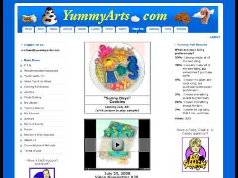 Yummy Arts Review - Best Cake Decorating Membership Site: Gum Paste Flowers