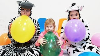 Baby play with Balloons / Funny Video for children by Margo
