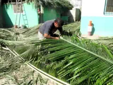 Melaque Building A Palapa Roof Youtube