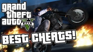 GTA 5 Cheats - New Best Cheat Codes - Invincibility, All Weapons, Full Health & Armor, Super Jump!
