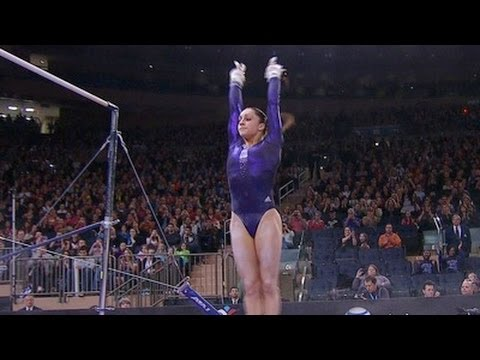 Jordyn Wieber makes amazing bar save to win 2012 American Cup  - from Universal Sports