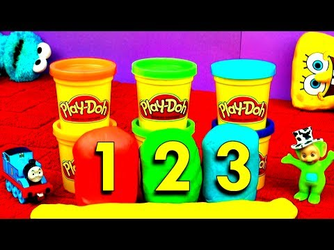 Play-Doh Surprise Eggs Mickey Mouse Disney Frozen Peppa Pig Teletubbies Thomas & Friends FluffyJet