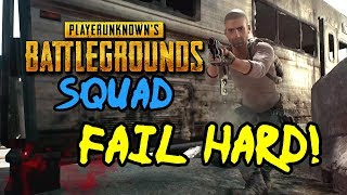 FAIL HARD! PUBG Gameplay Highlights, Funny Moments & Fails (Ep 1-7 Friends Squad on PC)