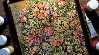 Speed Painting - Hot Batik - Autumn Flowers