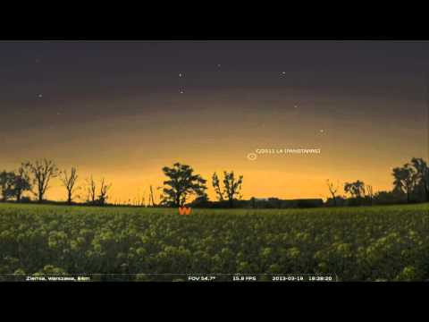 Lokalizacja komety C/2011 L4 Pan-STARRS 17-20 Marca HD