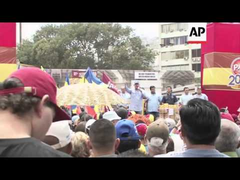 Opposition leaders organise protest in Caracas