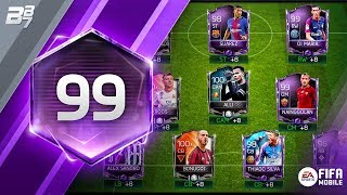 THE 99 RATED SQUAD BUILDER! | FIFA MOBILE